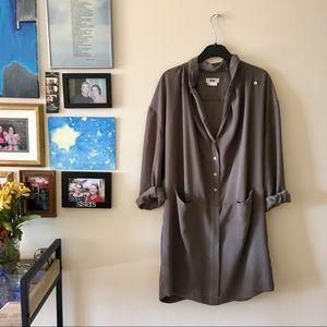 Acne studios gray Babylon tunic dress size 40